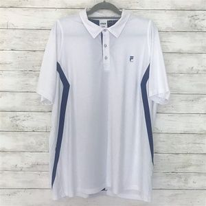 Fila Sport Golf Polo Mens Size XL Blue and White